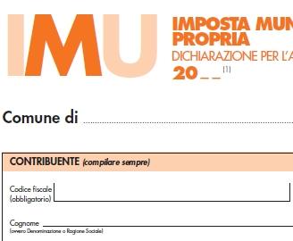 Dichiarazione IMU per il 30 novembre