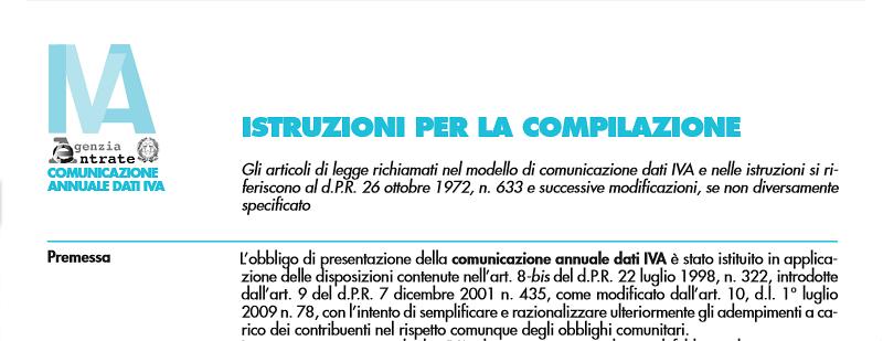 Scadenza comunicazione annuale dati Iva 2013