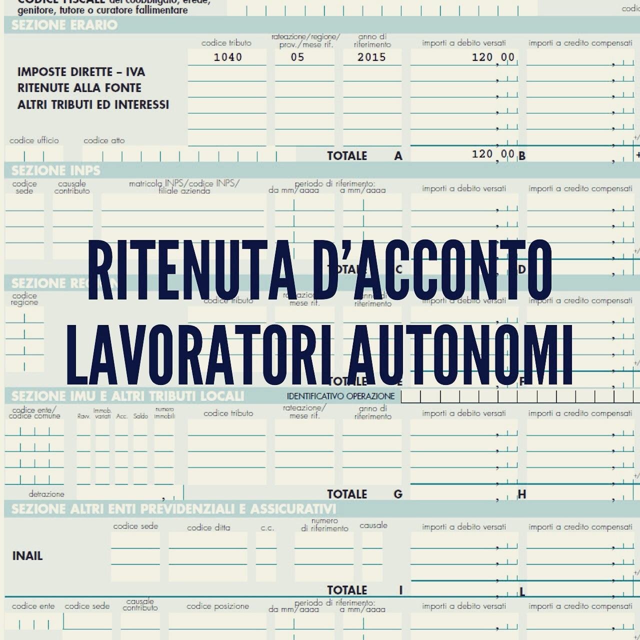 Célèbre Ritenuta d'acconto lavoratori autonomi - Studio Micera BY06