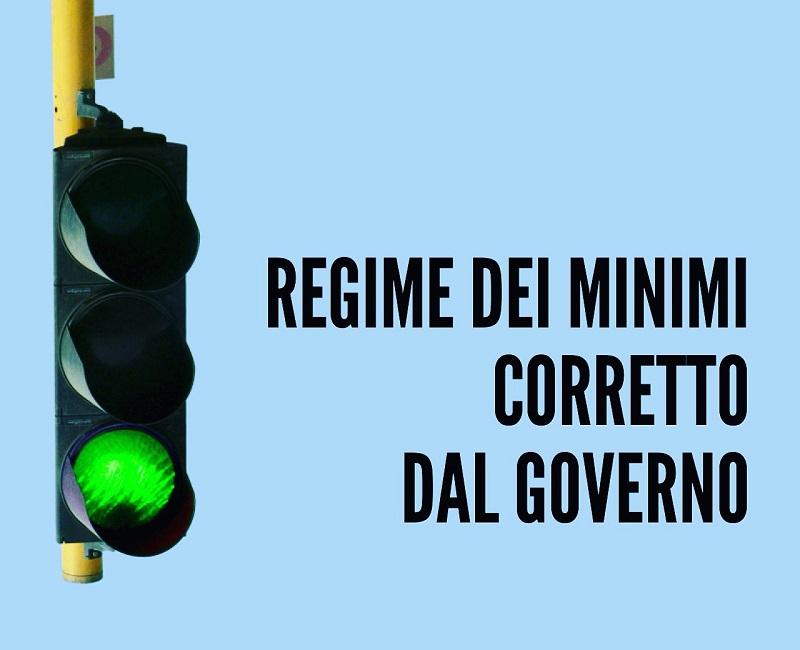 Regime dei minimi corretto dal Governo