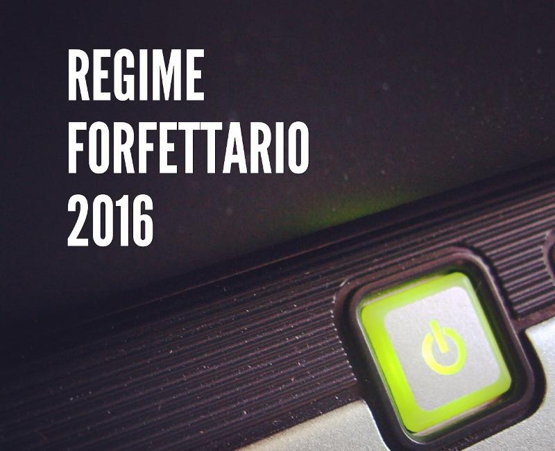 Regime forfettario del 2016
