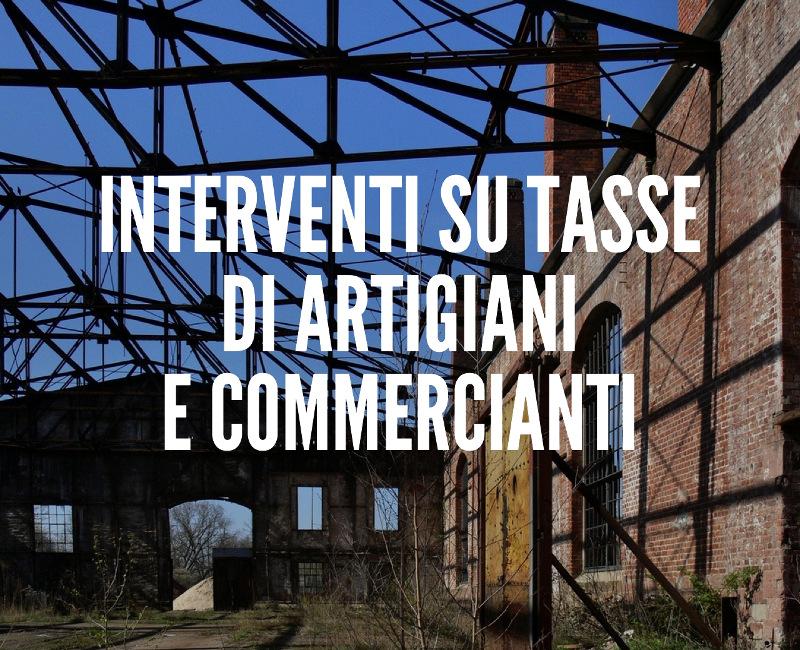 Interventi su tasse di artigiani e commercianti
